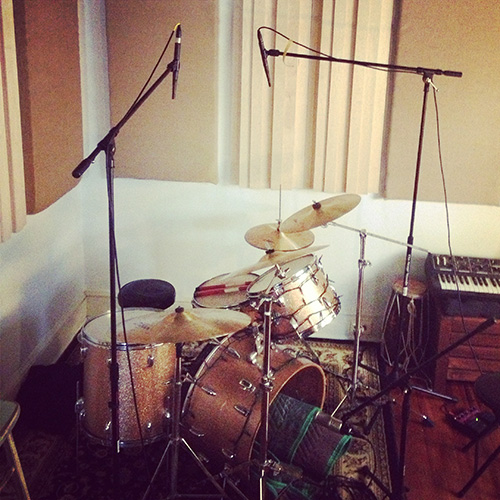 Drums in my home recording studio